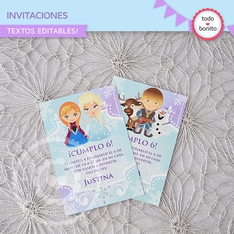 Invitaciones Imprimibles Frozen Todo Bonito