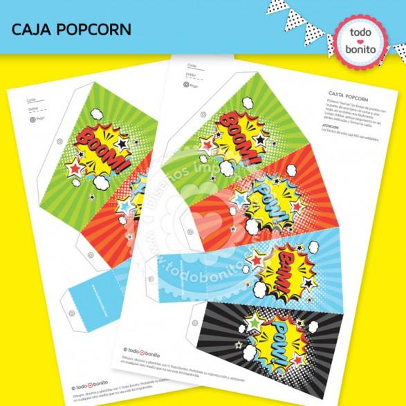 Cajita Popcorn Superheroes