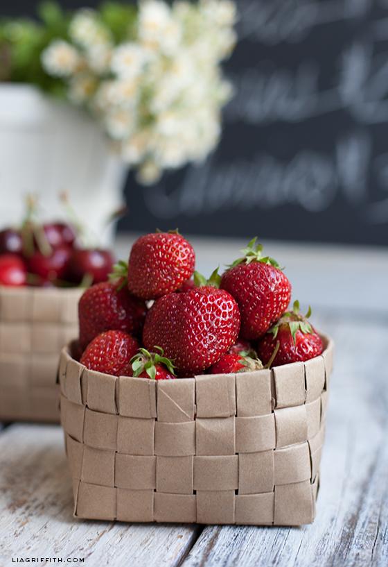 Cesta de frutillas