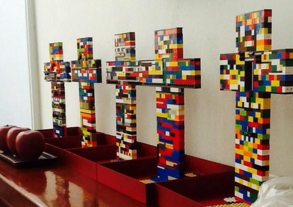 Centros de mesa con Legos
