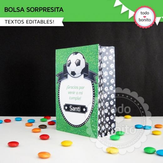 Bolsa Sorpresita Kit imprimible Futbol