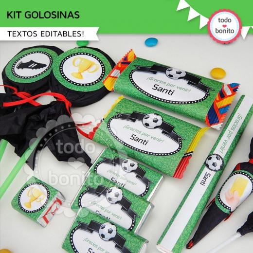 Kit Golosinas imprimibles Modelo Fútbol