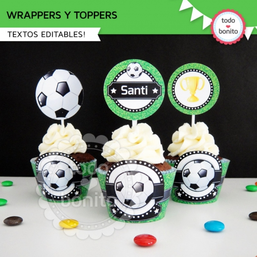 KIT FUTBOL WRAPPERS y TOPPERS
