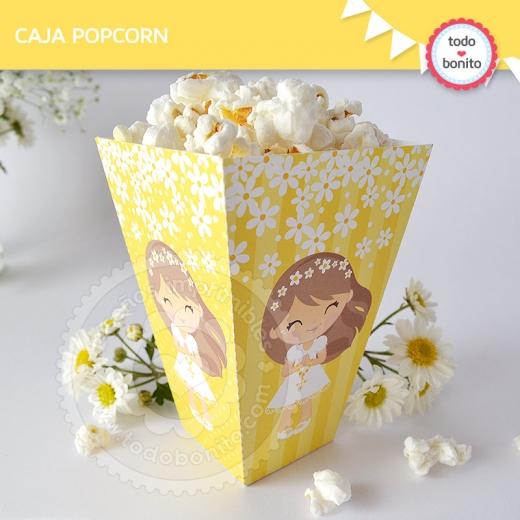 Caja Popcorn Primera Comunión