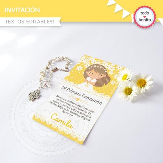 Invitacion Primera Comunión