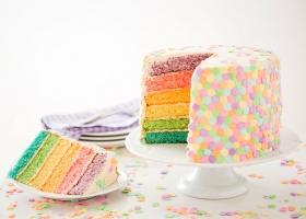 Receta torta arcoíris