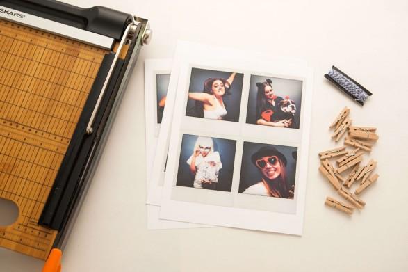 Guirnalda con Polaroids Materiales