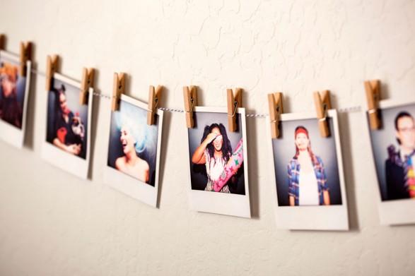 Guirnalda con Polaroids