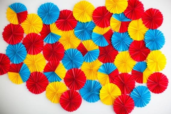 Background rosetas coloridas