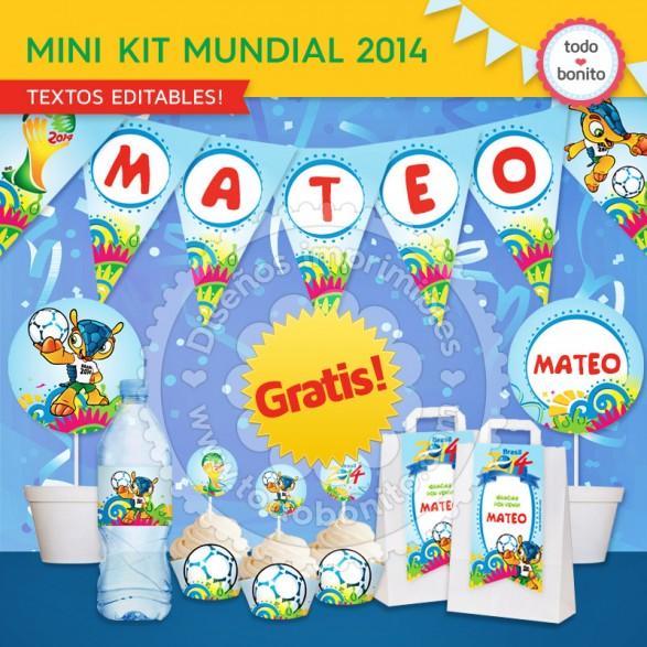 Kit imprimible mundial 2014 GRATIS!