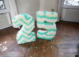 Piñata Número made in casa!