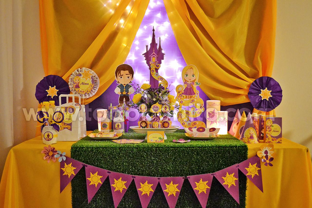 Bienvenida rapunzel todo bonito for Decoracion mesas fiestas