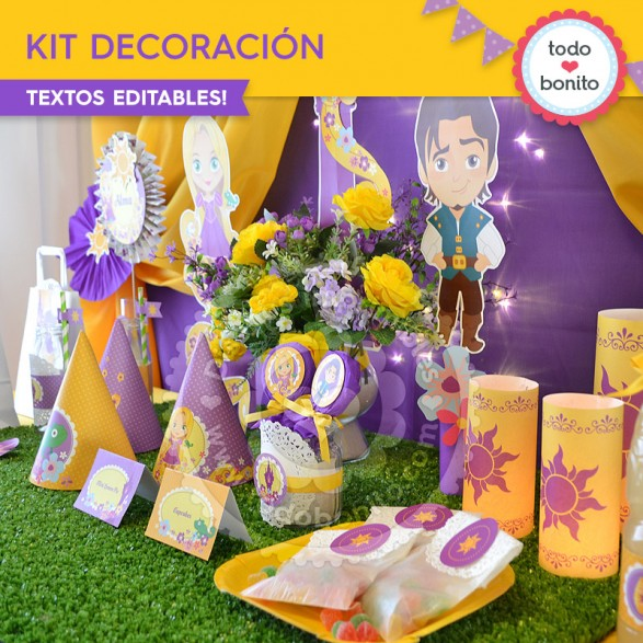 Kit de decoración Rapunzel