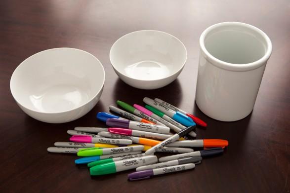 Tutorial cerámica pintada Materiales
