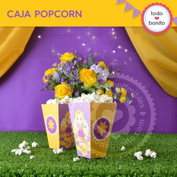 Caja Popcorn del Kit Rapunzel