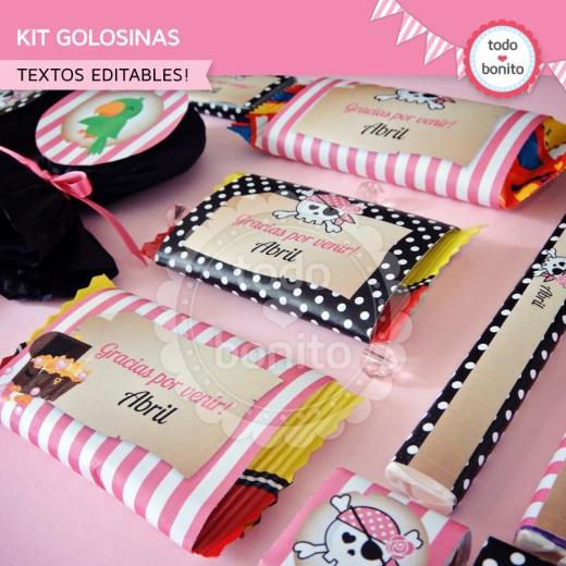 Kit de Golosinas Princesa Pirata