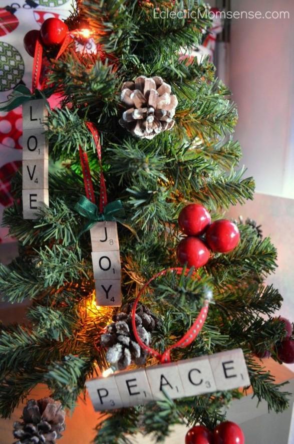 Ideas con Scrabble - deco navideña