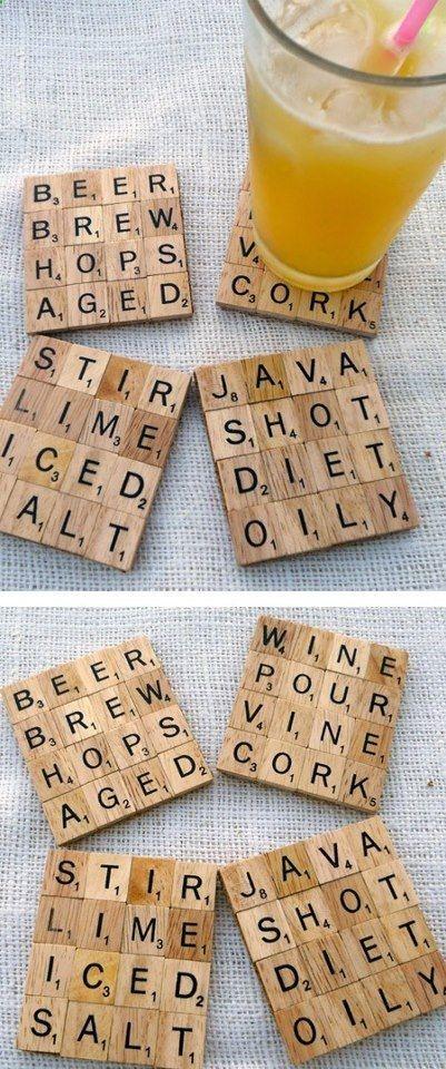 Ideas con Scrabble - posavasos