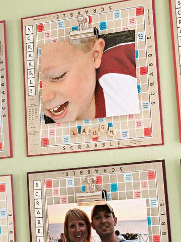 Ideas con Scrabble - Cuadros con tablero de juego