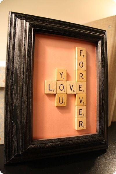 Ideas con Scrabble - cuadro