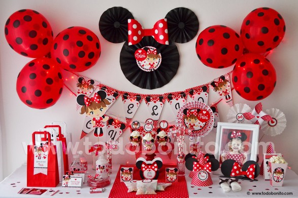 Pasteles De Minnie Mouse Rojo
