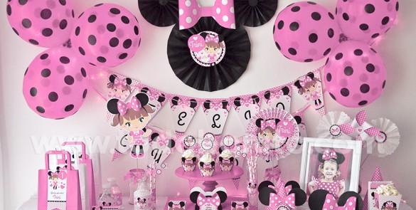 Decoración de la Minnie rosa - Imagui