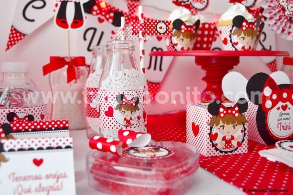 Kit imprimible Orejas Minnie rojo por Todo Bonito <3