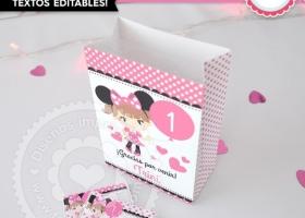 Kit imprimible Minnie Mouse en Rosa