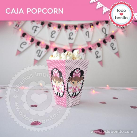 Caja Popcorn Minnie Rosa