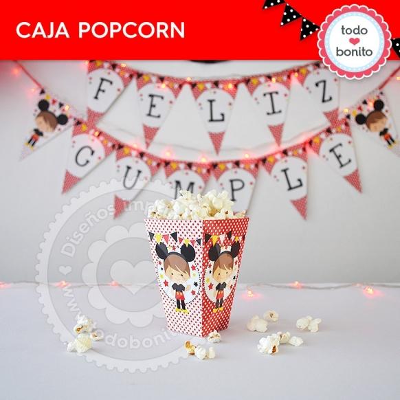 Caja Popcorn Orejas Mickey