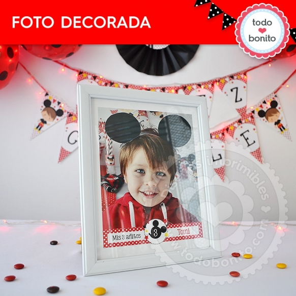 Foto Decorada Orejas Mickey