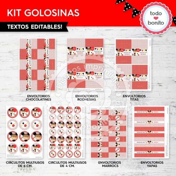 Kit Golosinas Orejas Mickey