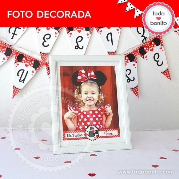 Foto decorada imprimible Orejas Minnie rojo por Todo Bonito <3