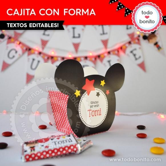 Caja con forma Orejas Mickey