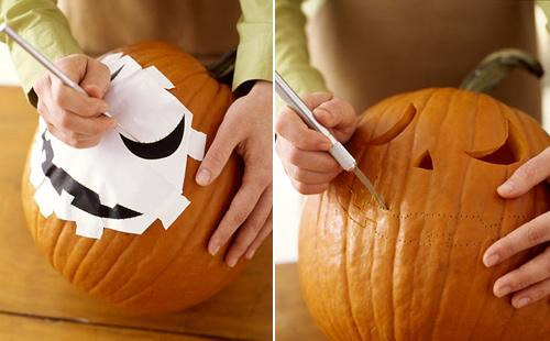 Calabaza de Halloween Paso 3 y 4