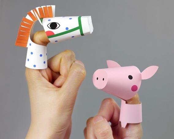 Títeres de dedo para imprimir gratis