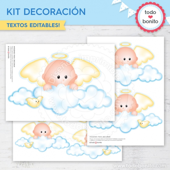 Kit Decoración Angelito Bebé