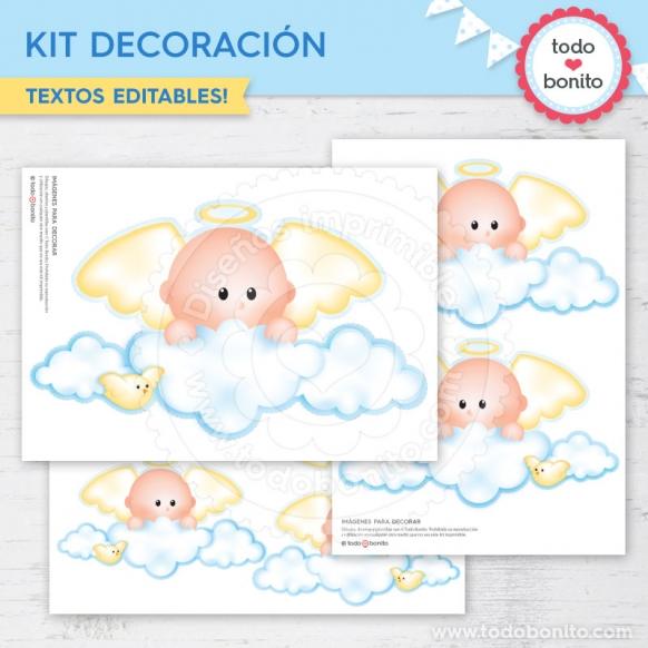 Kit Decoración Angelito Bebé