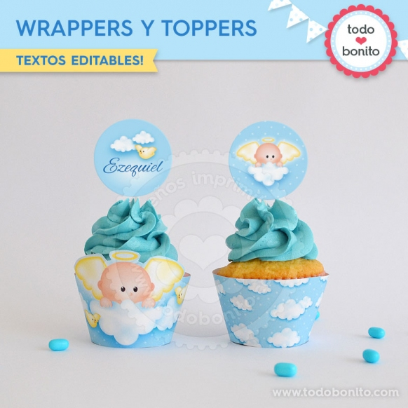 Wrappers y Toppers Angelito Bebé
