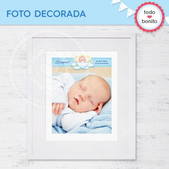 Foto Decorada Angelito Bebé