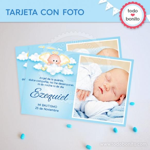 Tarjeta con foto Angelito Bebé