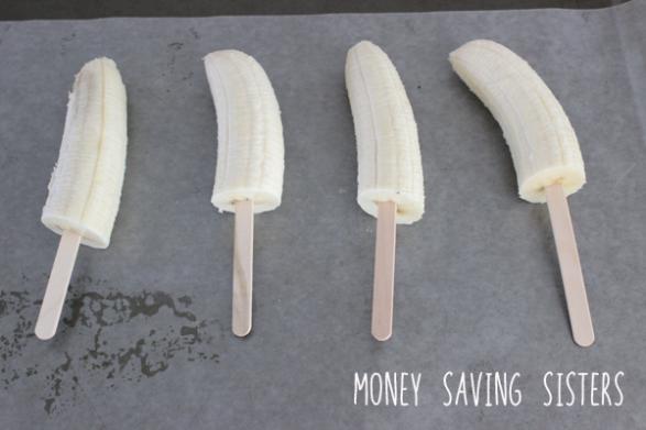 Bananas con palitos