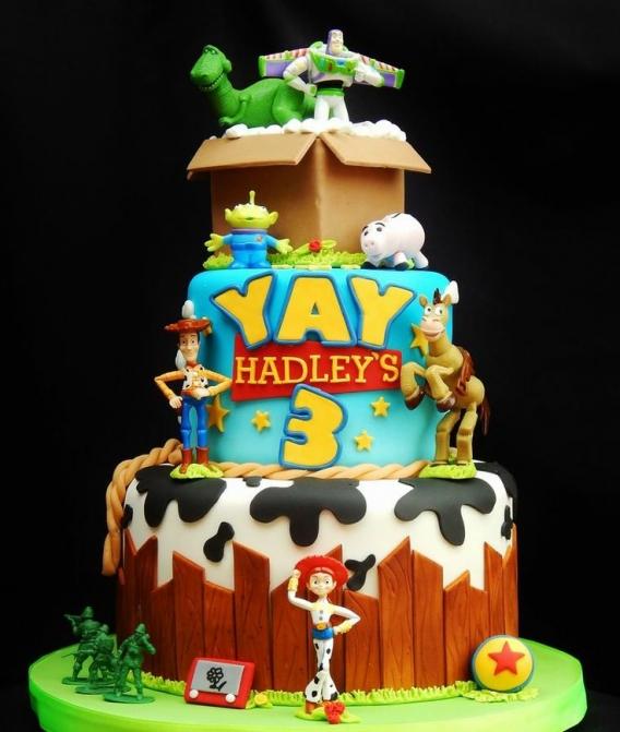 Torta con personajes de Toy Story