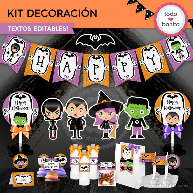 Kit imprimible de Halloween por Todo Bonito