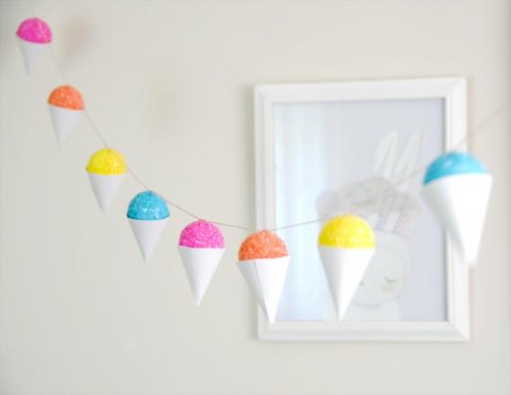 Conos helados decorativos