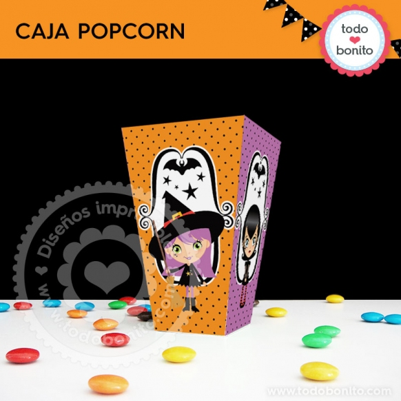 Cajita Popcorn Nenas halloween