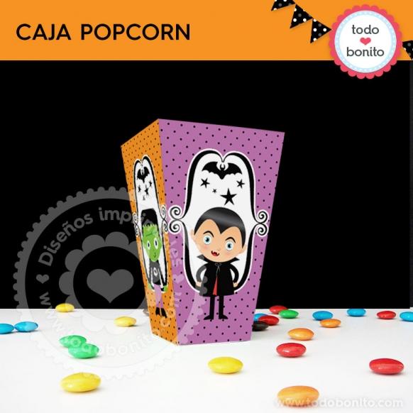 Cajita Popcorn Nenes halloween