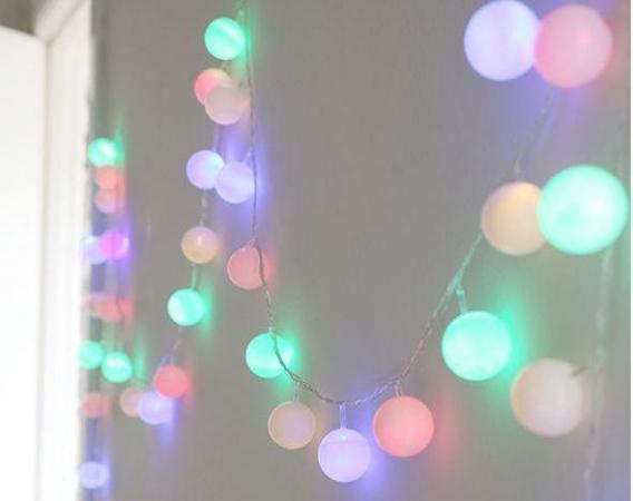 Pelotitas de ping pong luminosas