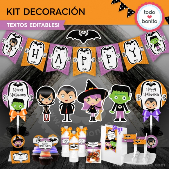 Kit de decoración halloween