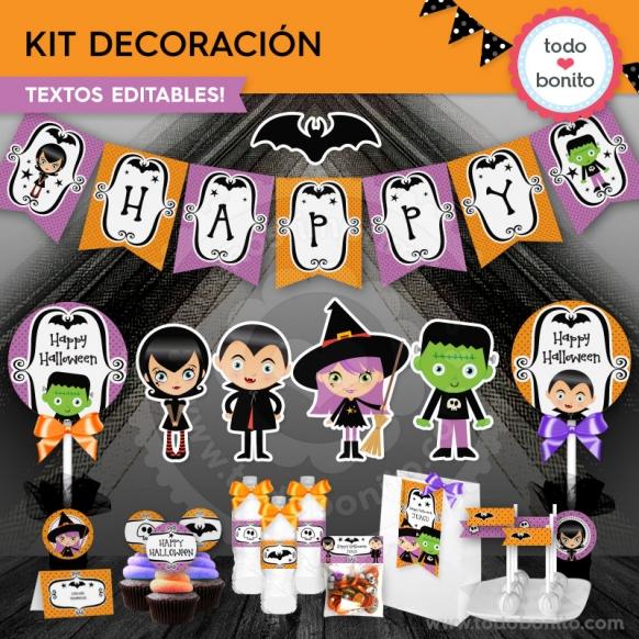Kit de decoración halloween